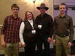 Pictured: Carson, Jodie, Warren & Ryan when our family was awarded the 2013 Mercer County, ND Soil Conservation District Award.